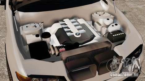BMW X5 4.8iS v2 para GTA 4 vista de volta