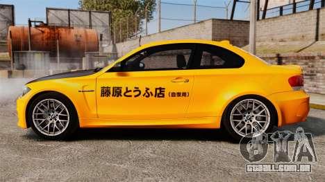 BMW 1M Coupe 2011 Fujiwara Tofu Shop Sticker para GTA 4 esquerda vista