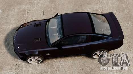 Ford Mustang Shelby GT500KR 2008 para GTA 4 vista direita