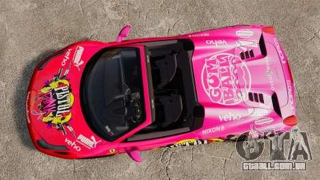 Ferrari 458 Spider Pink Pistol 027 Gumball 3000 para GTA 4 vista direita