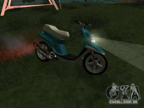 MBK Booster Spirit para GTA San Andreas esquerda vista