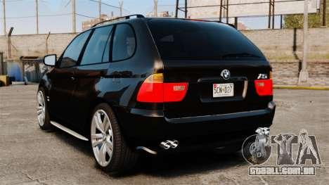BMW X5 4.8iS v1 para GTA 4 traseira esquerda vista