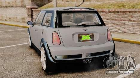 Mini Cooper S 2008 v2.0 para GTA 4 traseira esquerda vista