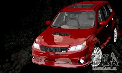 Subaru Forester RRT Sport 2008 v2.0 para vista lateral GTA San Andreas