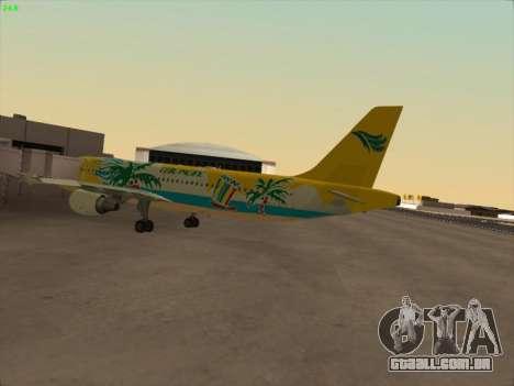 Airbus A320-211 Cebu Pacific Airlines para GTA San Andreas traseira esquerda vista
