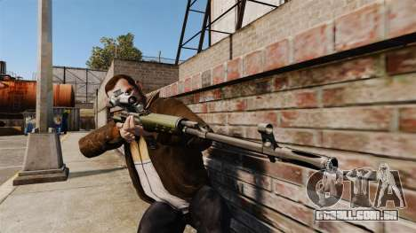 Dragunov sniper rifle v3 para GTA 4 terceira tela