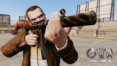 Pistola-metralhadora MP5SD V8 para GTA 4 terceira tela