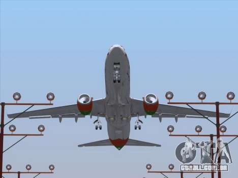 Boeing 737-800 Zest Air para as rodas de GTA San Andreas