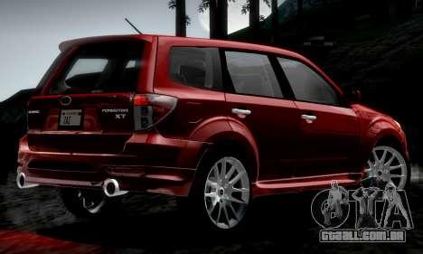 Subaru Forester RRT Sport 2008 v2.0 para GTA San Andreas esquerda vista