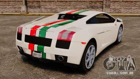 Lamborghini Gallardo 2005 [EPM] Italian para GTA 4 traseira esquerda vista
