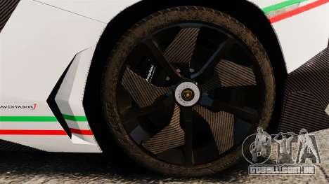 Lamborghini Aventador J 2012 Tricolore para GTA 4 vista interior