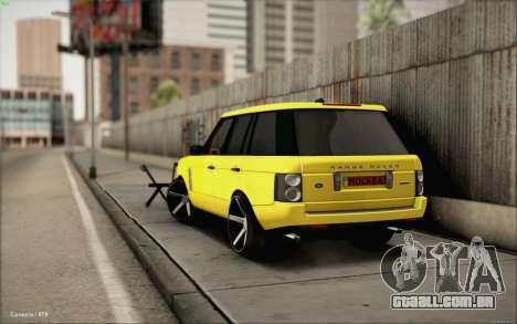 Land Rover Range Rover Gold Vossen para GTA San Andreas esquerda vista