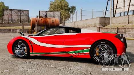 Pagani Huayra 2011 [EPM] Italian para GTA 4 esquerda vista