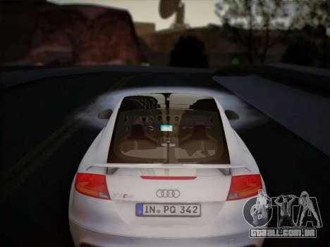 Audi TT RS 2013 para GTA San Andreas vista interior