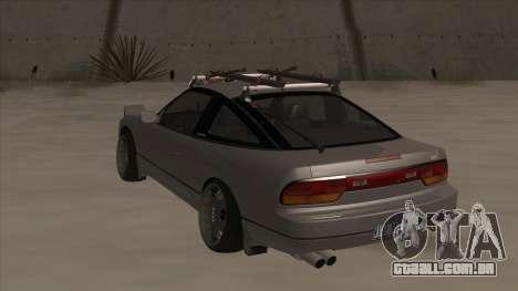 Nissan 240SX Rat para GTA San Andreas vista traseira