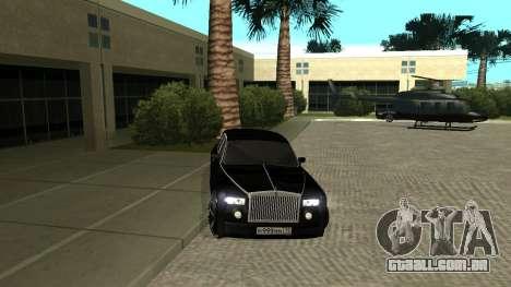 Rolls-Royce Phantom para GTA San Andreas esquerda vista