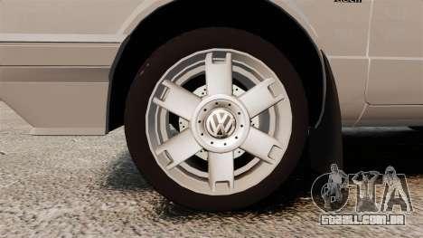 Volkswagen Citi Golf Velociti 2008 para GTA 4 vista de volta