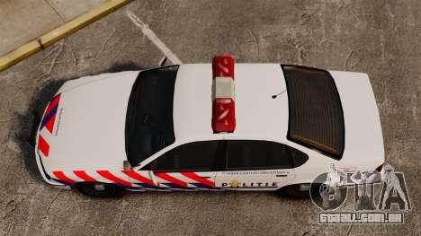 Polícia holandesa para GTA 4 vista direita