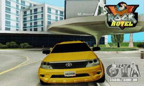 Toyota Fortuner Original 2013 para GTA San Andreas vista traseira