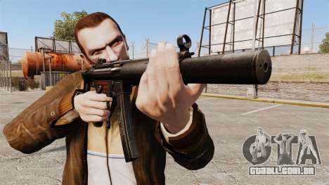 MP5SD metralhadora v5 para GTA 4 terceira tela