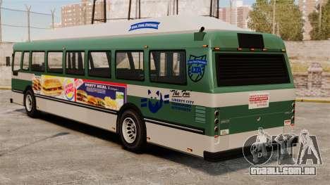 O novo anúncio no ônibus para GTA 4 esquerda vista