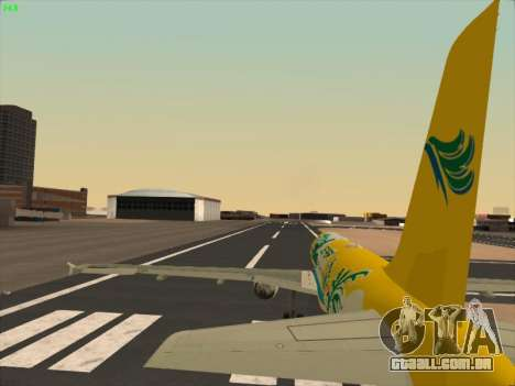 Airbus A320-211 Cebu Pacific Airlines para GTA San Andreas vista inferior