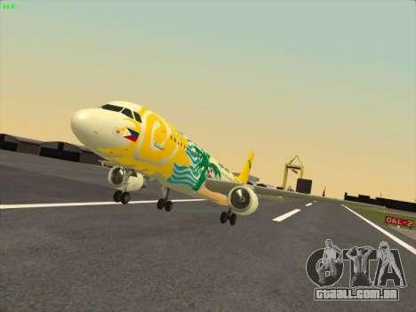 Airbus A320-211 Cebu Pacific Airlines para GTA San Andreas vista traseira