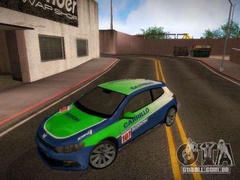 Volkswagen Scirocco para GTA San Andreas vista superior