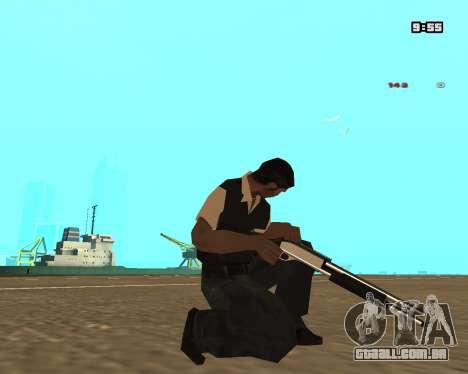 White Chrome Shotgun para GTA San Andreas terceira tela