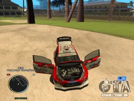 Ford Fiesta RS WRC para GTA San Andreas vista traseira