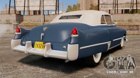 Cadillac Series 62 convertible 1949 [EPM] v3 para GTA 4 traseira esquerda vista