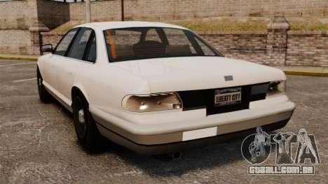 Um táxi civil para GTA 4 traseira esquerda vista
