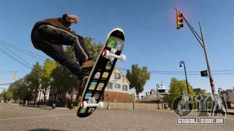 Skate iPhone para GTA 4 esquerda vista