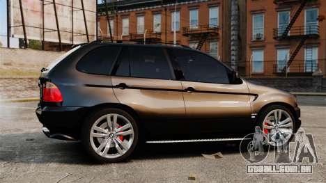BMW X5 4.8iS v1 para GTA 4 esquerda vista