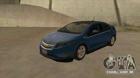 Chevrolet Volt 2011 [ImVehFt] v1.0 para GTA San Andreas