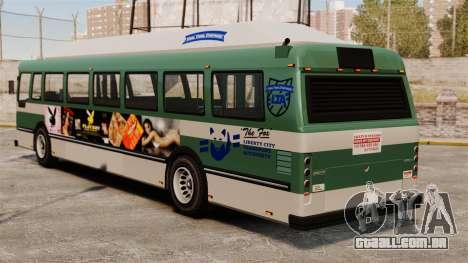 O novo anúncio no ônibus para GTA 4 vista direita