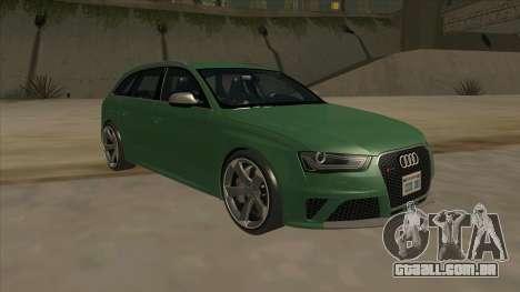 Audi RS4 Avant B8 2013 V2.0 para GTA San Andreas