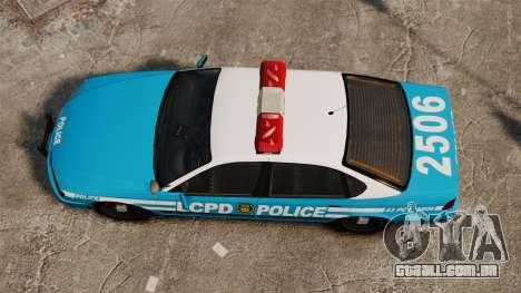 LCPD Police Patrol para GTA 4 vista direita