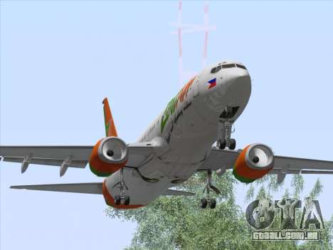 Boeing 737-800 Zest Air para GTA San Andreas vista interior