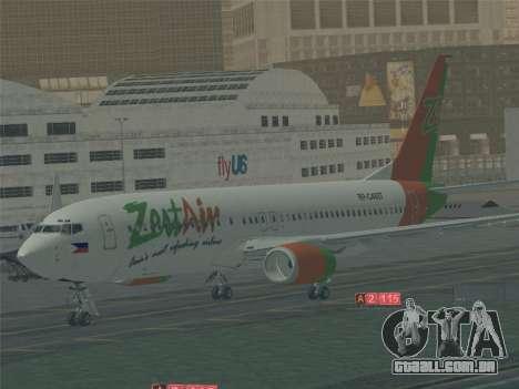 Boeing 737-800 Zest Air para GTA San Andreas