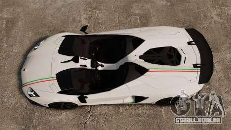 Lamborghini Aventador J 2012 Tricolore para GTA 4 vista de volta