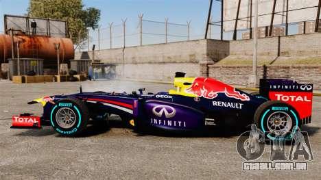 Carro, Red Bull RB9 v1 para GTA 4 esquerda vista