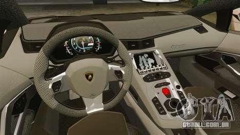 Lamborghini Aventador LP700-4 2012 v2.0 para GTA 4 vista interior