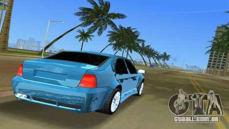 Volkswagen Bora para GTA Vice City vista traseira esquerda