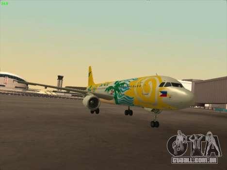 Airbus A320-211 Cebu Pacific Airlines para GTA San Andreas esquerda vista