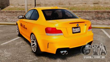 BMW 1M Coupe 2011 Fujiwara Tofu Shop Sticker para GTA 4 vista direita