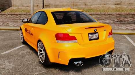 BMW 1M Coupe 2011 Fujiwara Tofu Shop Sticker para GTA 4 vista direita