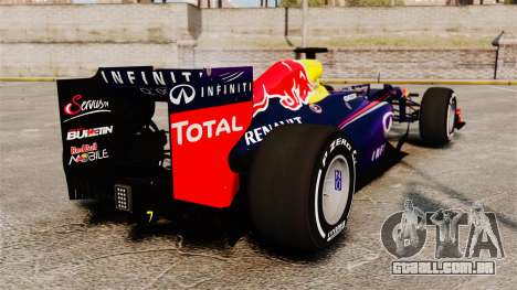 Carro, Red Bull RB9 v4 para GTA 4 traseira esquerda vista