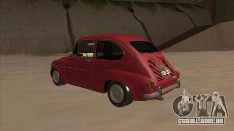 Zastava 750 Fico para GTA San Andreas vista direita