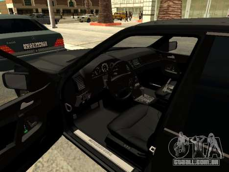 Mercedes-Benz w140 s600 para GTA San Andreas vista inferior
